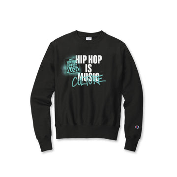 Hip Hop Is Culture Black Champion Crewneck