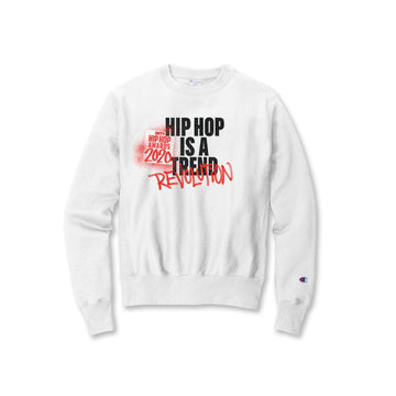 Hip Hop Is A Revolution White Champion Crewneck