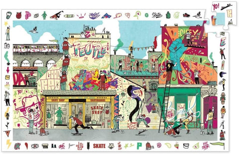 Puzzle Djeco observation et poster Street Art