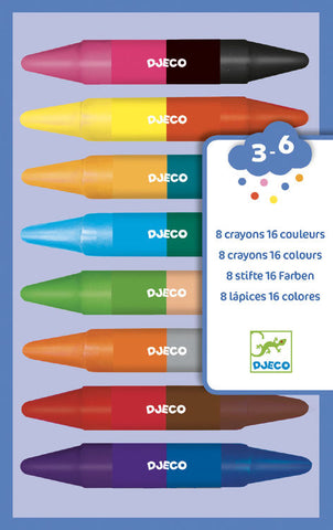 Double-ended wax crayons Djeco (16)