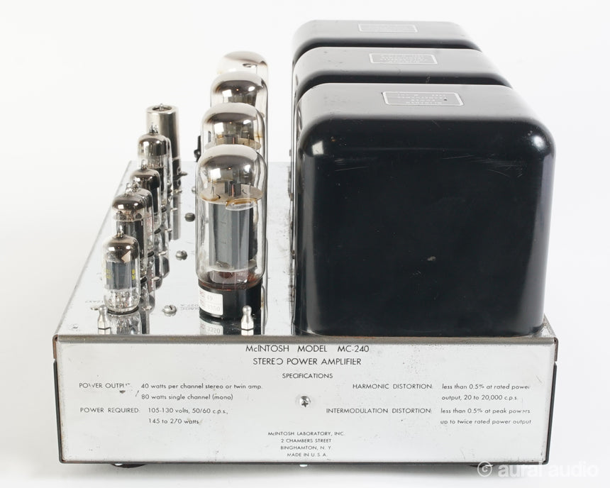McIntosh MC240 // Stereo Tube Amplifier
