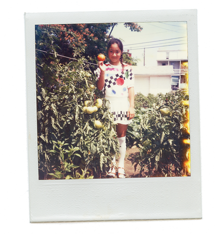Kimchee Girl with tomato