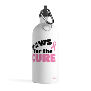 Paws for the Cure Breast Cancer Awareness Stainless Steel Water Bottle