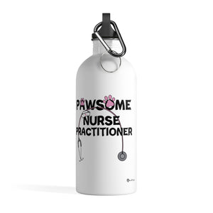 PAWsome Nurse Practitioner Stainless Steel Water Bottle