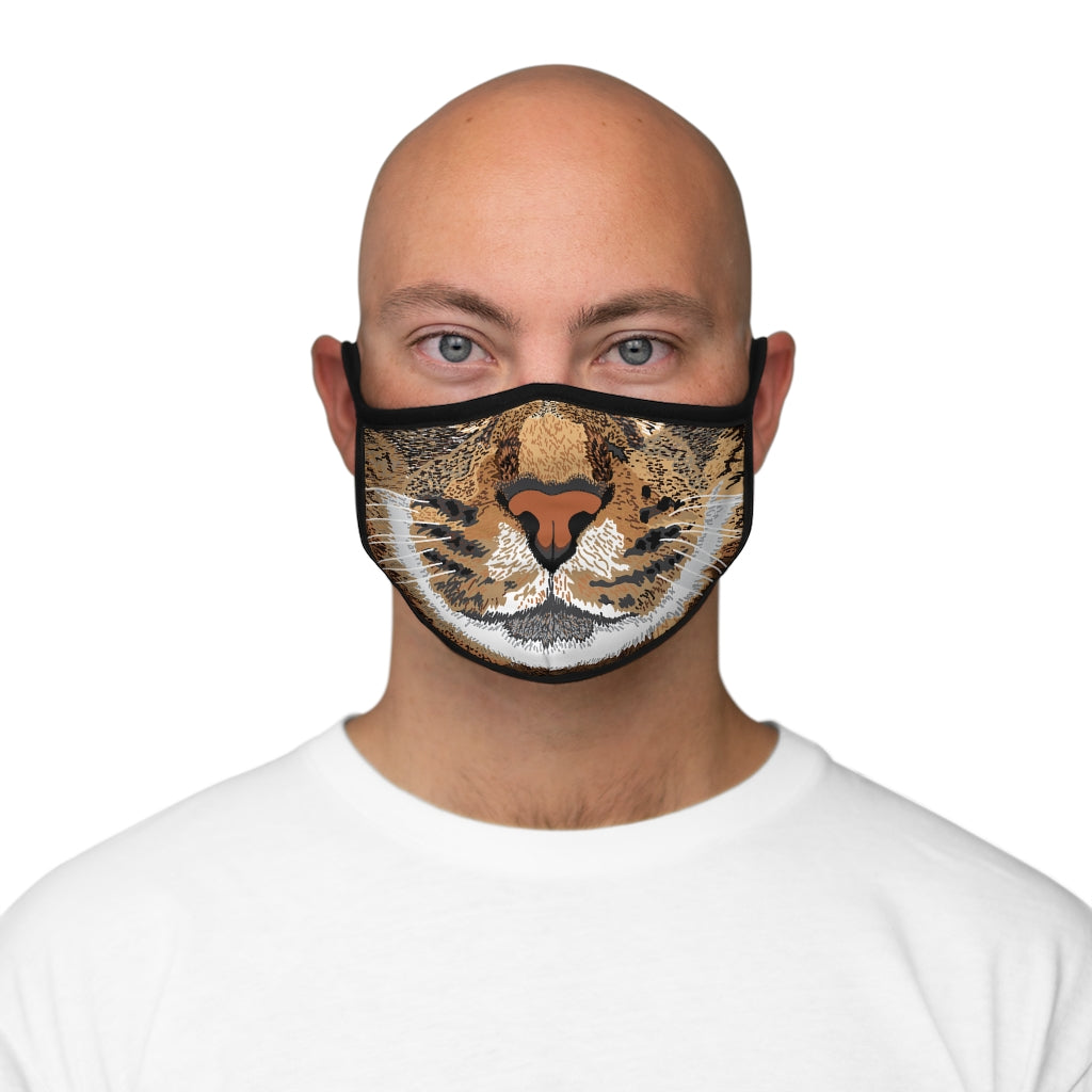 Cat Fitted Polyester Face Mask