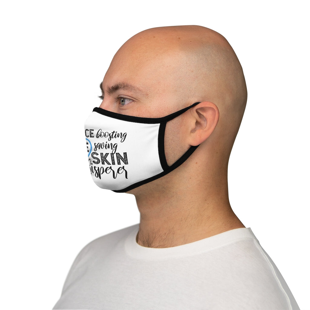Confidence Boosting Life Saving Skin Whisperer Fitted Polyester Face Mask