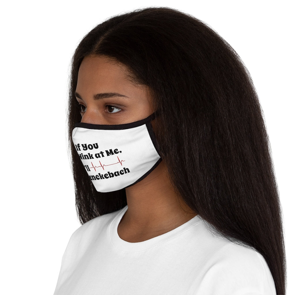If You Wink at Me I'll Wenckebach (Nurse Humor) Fitted Polyester Face Mask