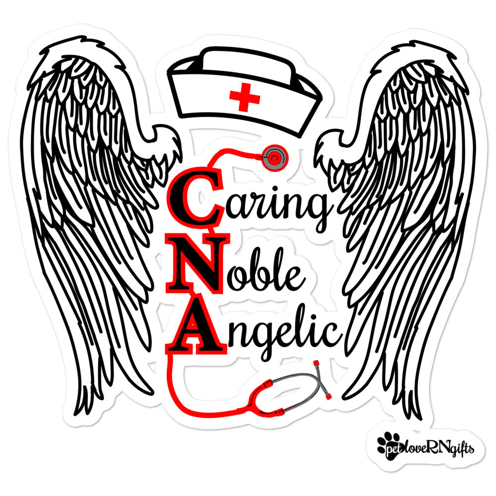 CNA Caring Noble Angelic Kiss Cut Sticker