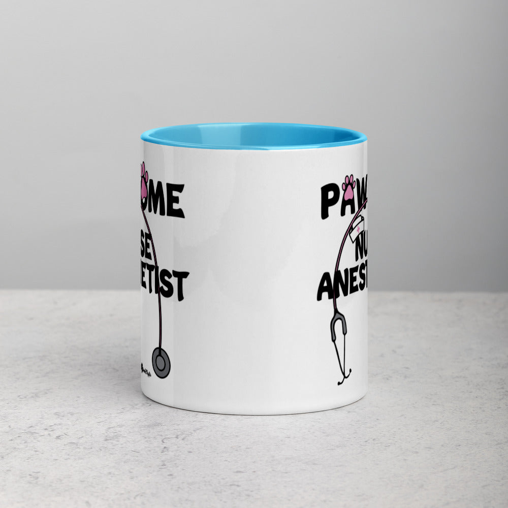 PAWsome Nurse Anesthetist Mug with Vibrant Color Inside