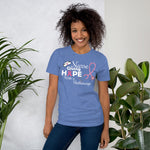 Breast Cancer Awareness Nurses Giving Hope with a Stethoscope Unisex T-Shirt