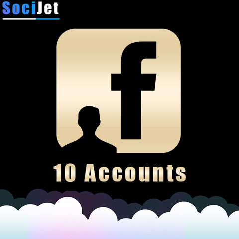 FB 10 ACCOUNTS | VERIFIED BY E-MAIL - SociJet
