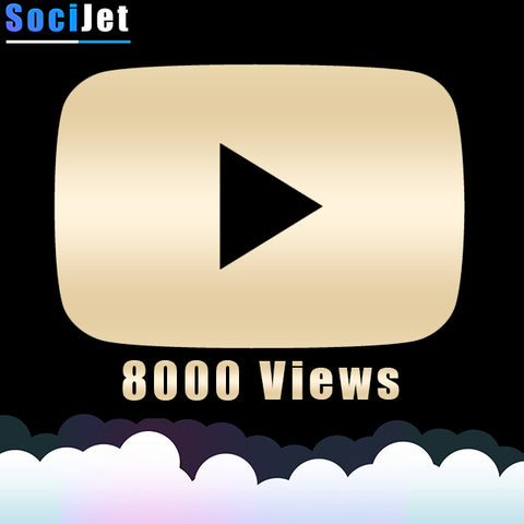Youtube - Premium 8000 Views - SociJet