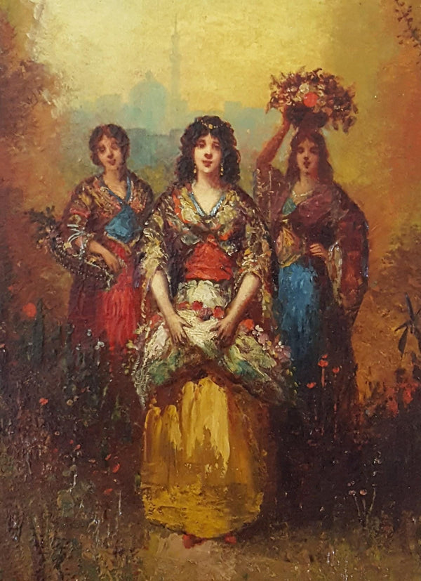 Frédéric Borgella – Young Women with Flowers – Circa 1880-Winckelmann Gallery