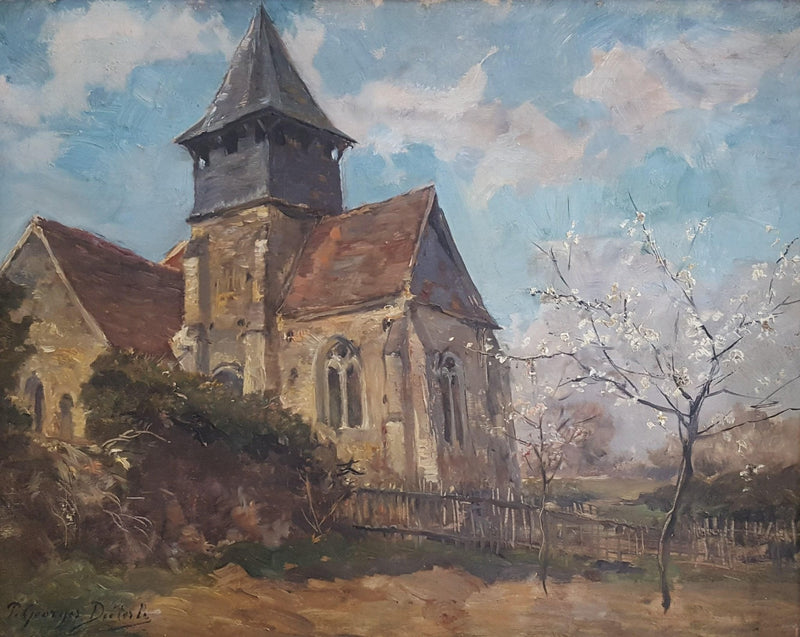 Pierre Georges Diéterle – Old Church – Circa 1890-Winckelmann Gallery