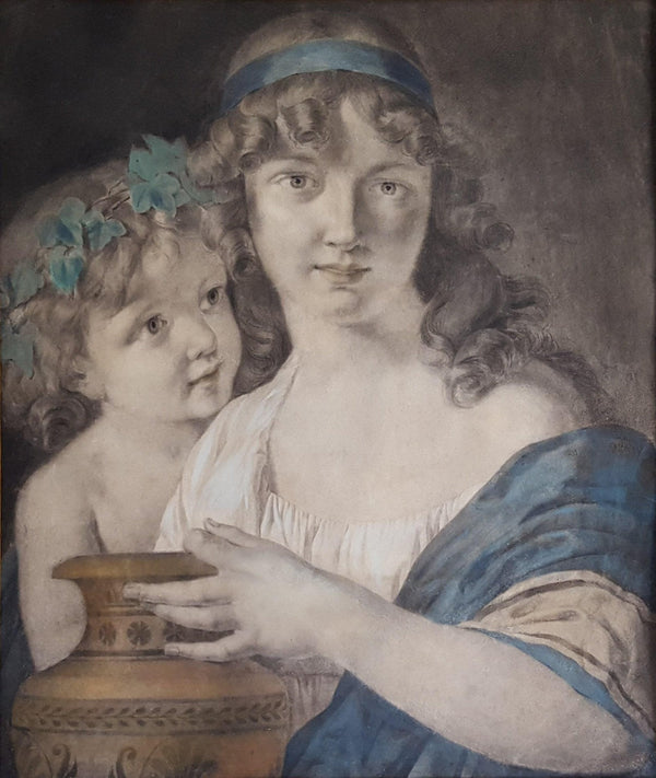 Young Woman with Greek Vase – Neoclassic French School-Winckelmann Gallery