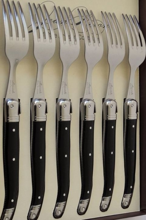 table forks laguiole set 6 gift boxed