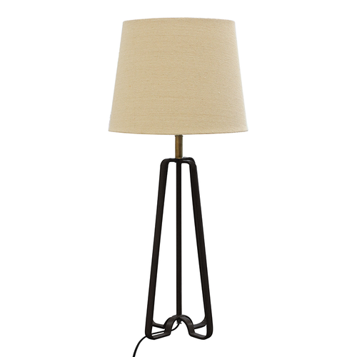 Black stirrup tripod lamp base