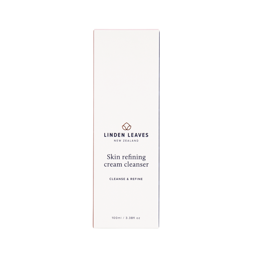 skin refining cream cleanser linden leaves