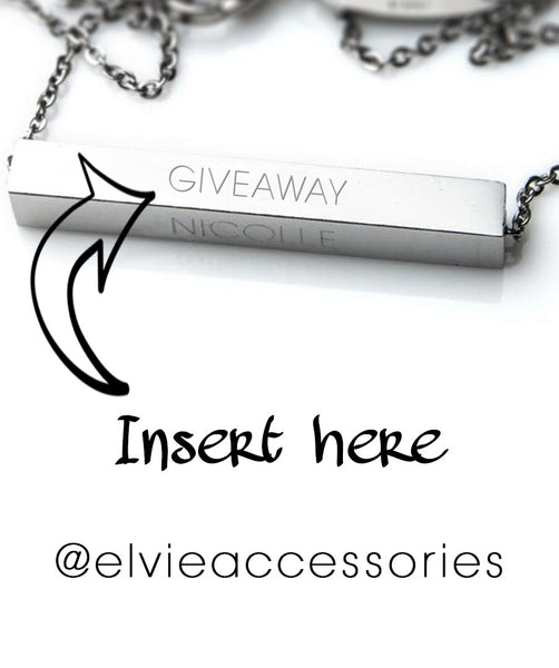 Personalised necklace giveaway