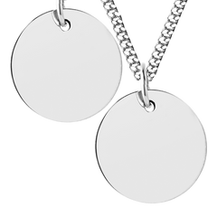 Men's Large Disc Necklace