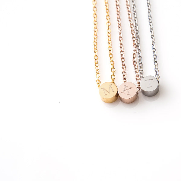 Dot Initial Necklace