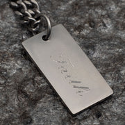 Men's XL Tag Necklace