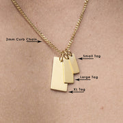Large Tag Necklace