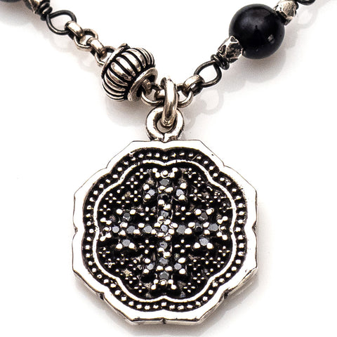 Knotted Rosary Necklace