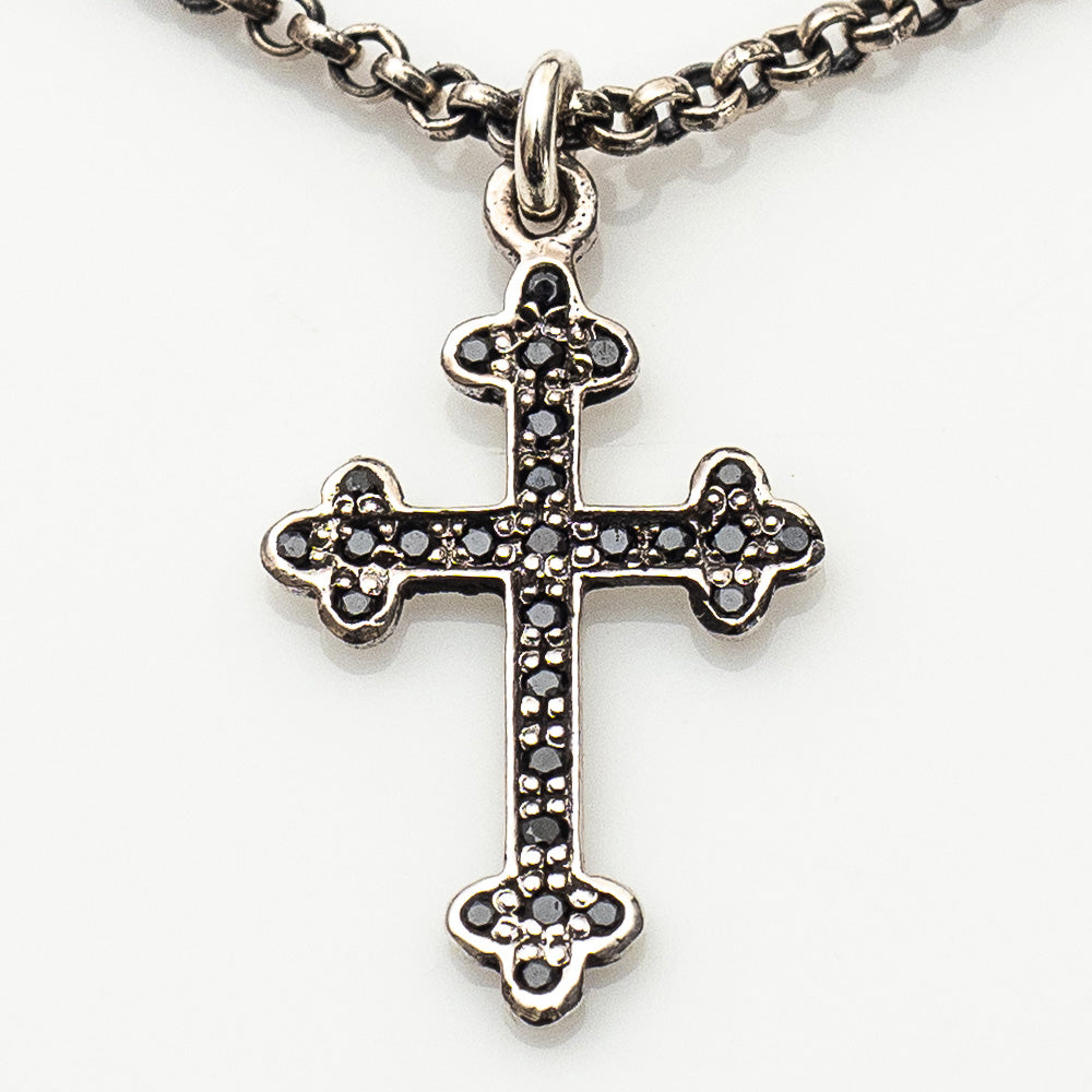 BUDDED CROSS NECKLACE