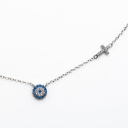 EVIL EYE & CROSS NECKLACE