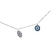 HAMSA NECKLACE OPAL AND STERLING SILVER