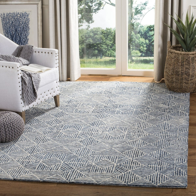 Safavieh Rugs Abstract ABT763M Blue