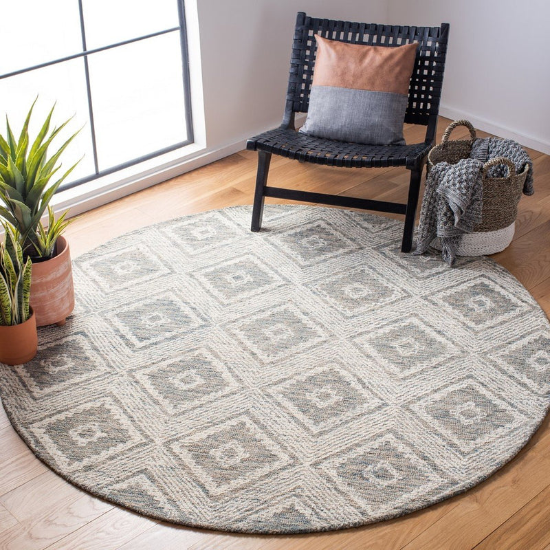 Safavieh Rugs Abstract ABT347L Ivory | Denim