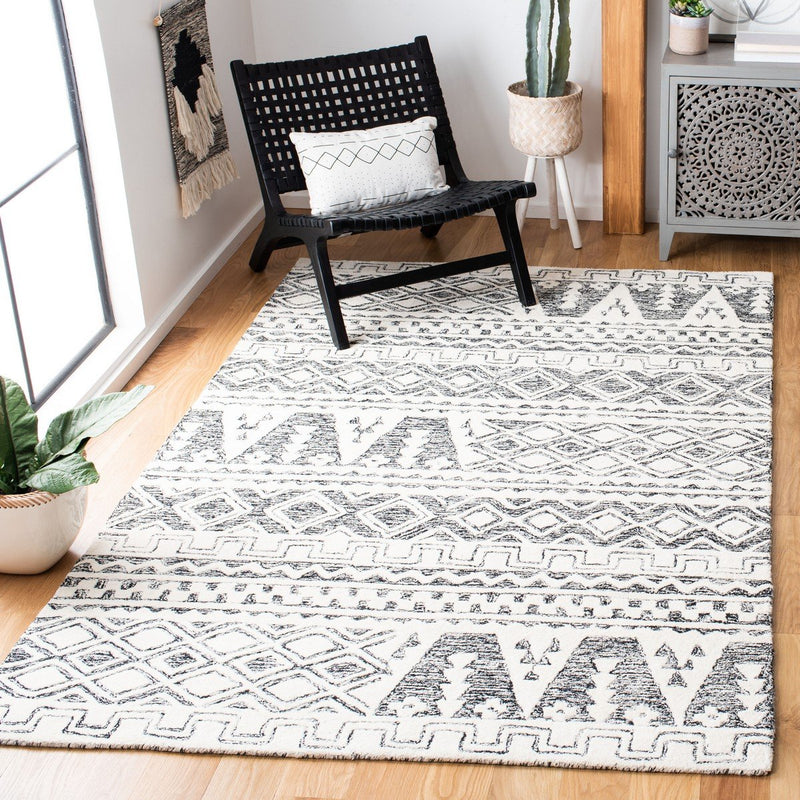 Safavieh Rugs Abstract ABT557A Ivory | Black