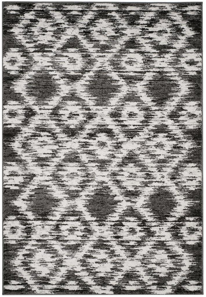 Safavieh Rugs Adirondack ADR118R Charcoal | Ivory