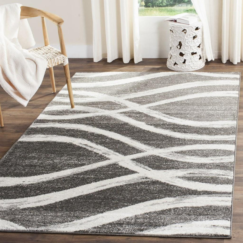 Safavieh Rugs Adirondack ADR125R Charcoal | Ivory