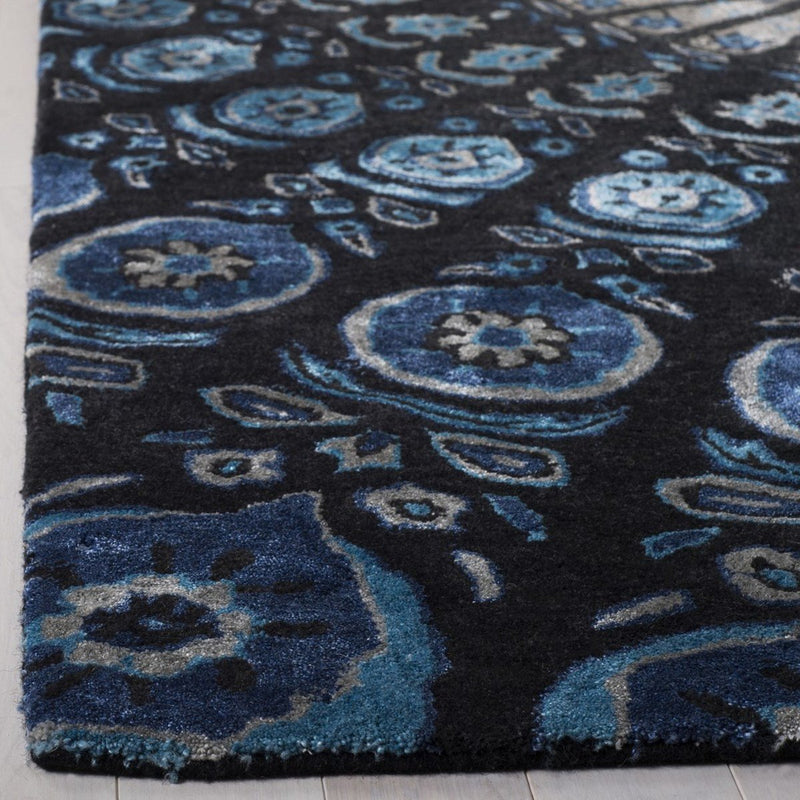 Safavieh Rugs Alr-Allure ALR418Z Black | Blue