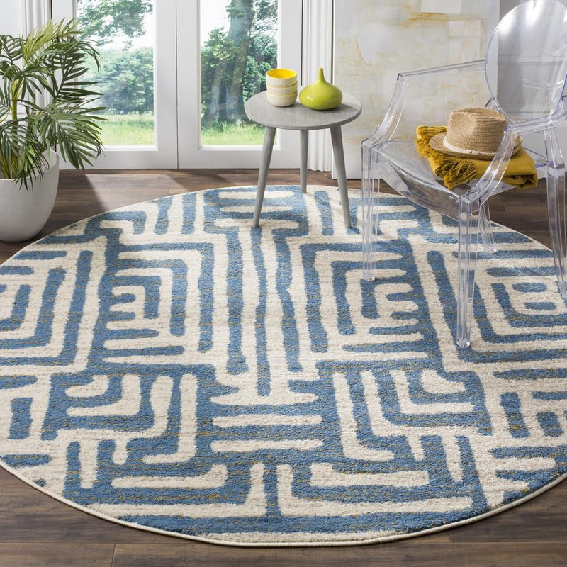 Safavieh Rugs Amsterdam AMS106C Ivory | Light Blue