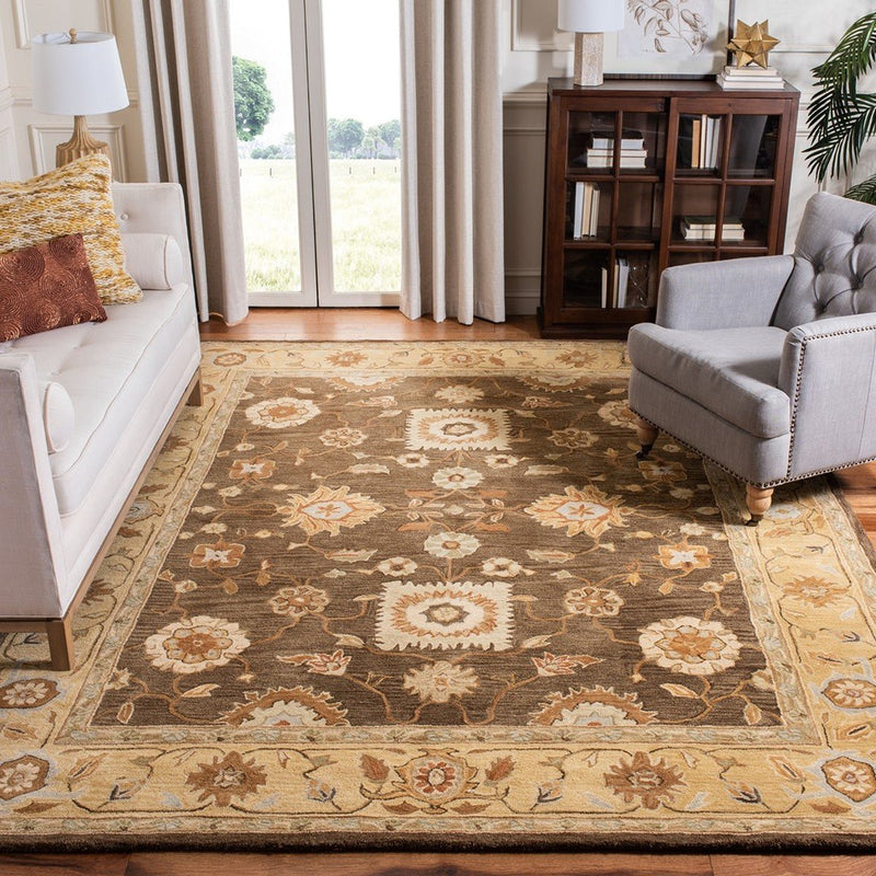 Safavieh Rugs Anatolia AN556C Brown | Taupe