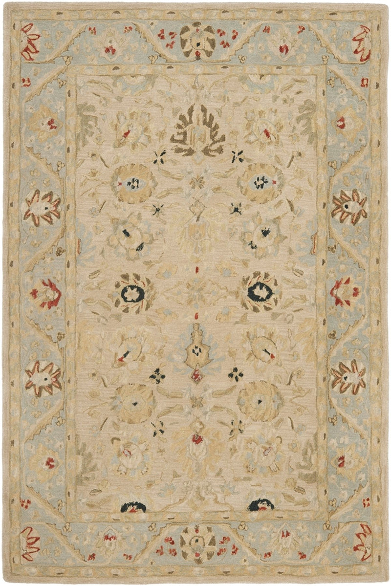 Safavieh Rugs Anatolia AN569C Natural | Soft Turquoise
