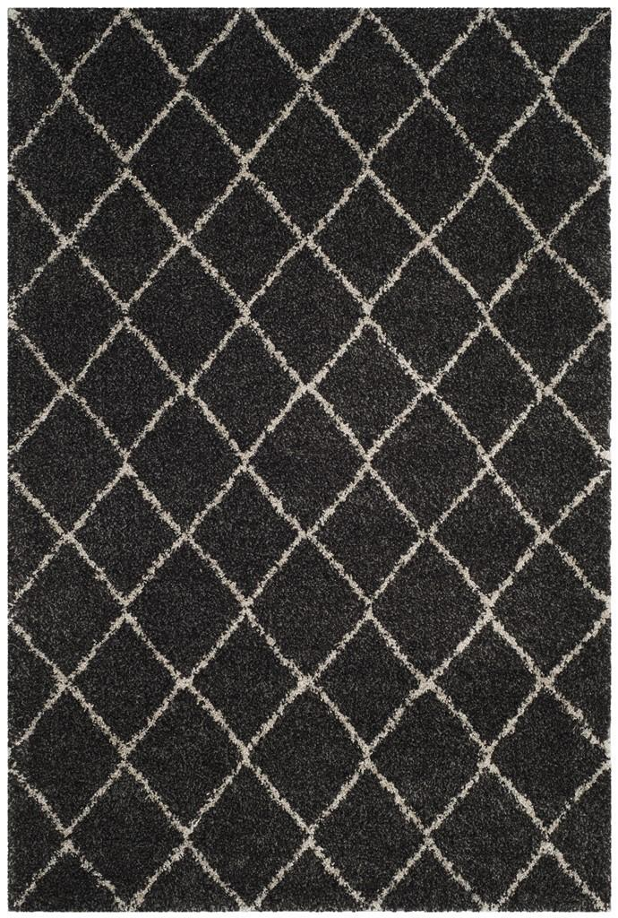 Safavieh Rugs Arizona Shag ASG742C Anthracite | Beige