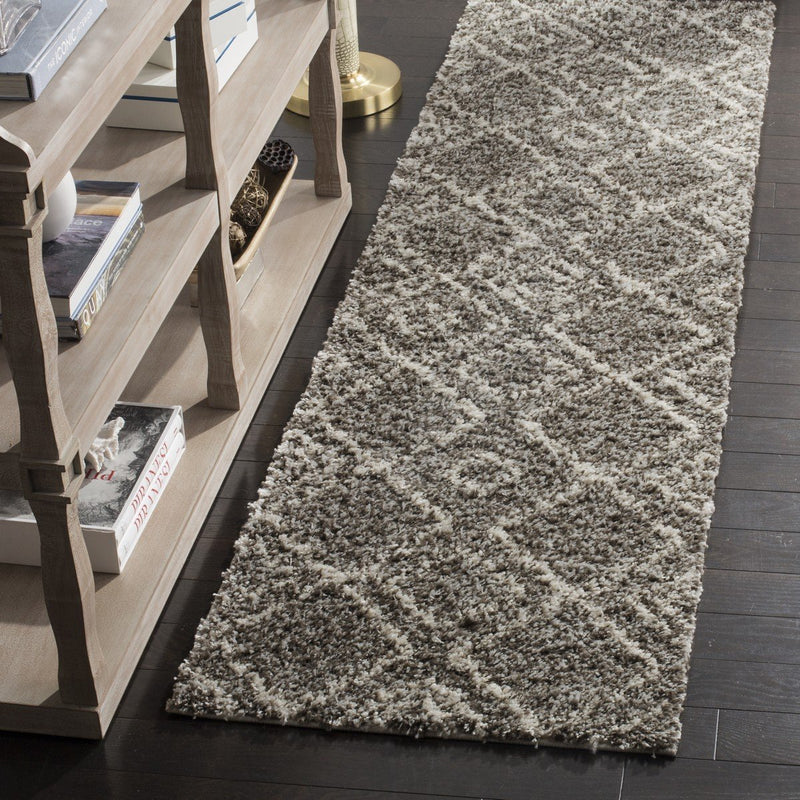 Safavieh Rugs Arizona Shag ASG744B Brown | Ivory