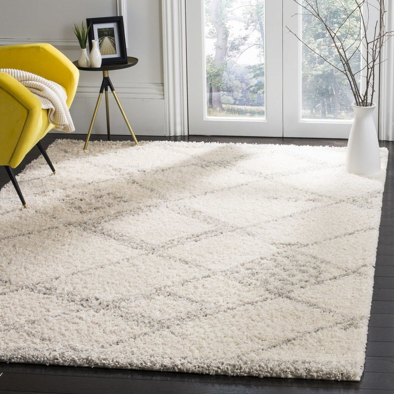 Safavieh Rugs Arizona Shag ASG751G Ivory | Grey