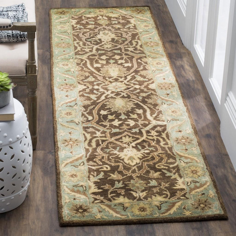 Safavieh Rugs Antiquity AT14F Brown | Green