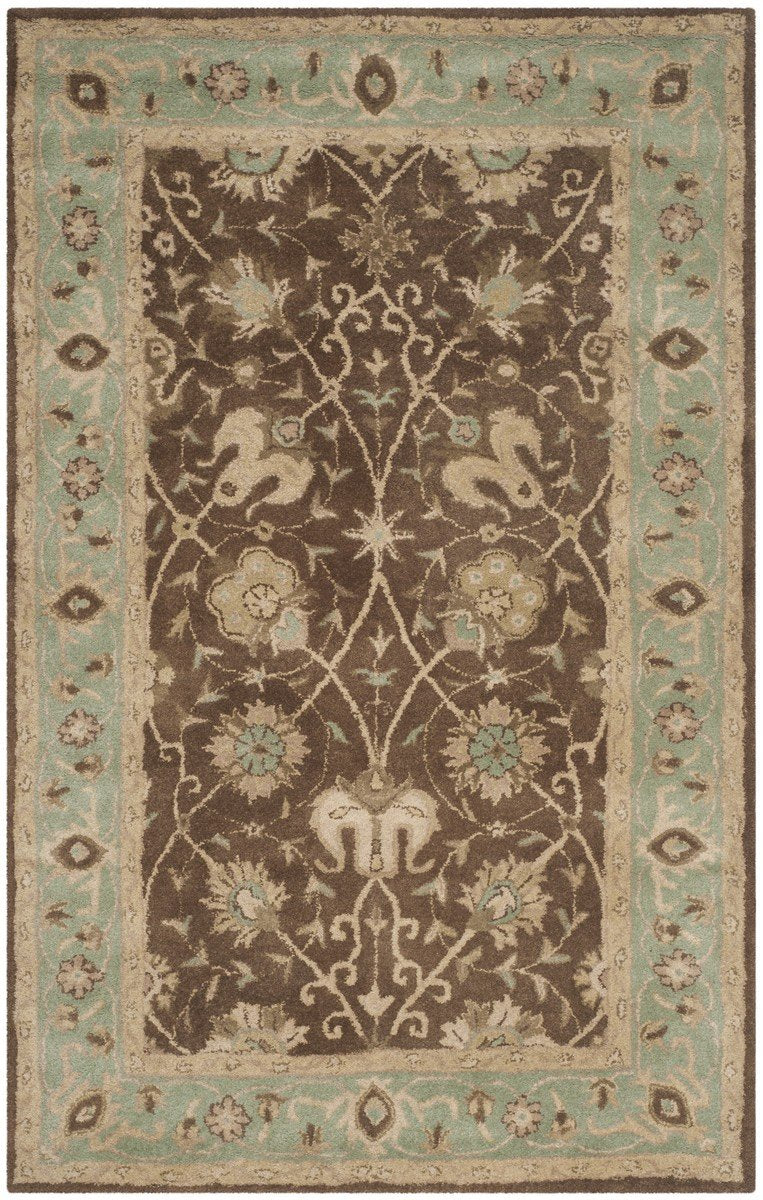 Safavieh Rugs Antiquity AT21G Brown | Green