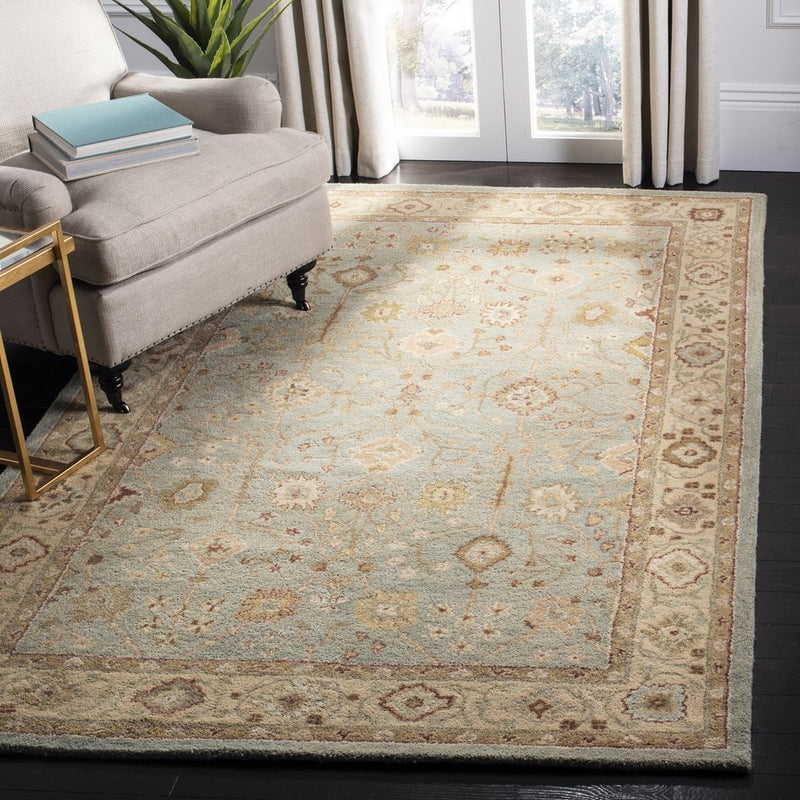 Safavieh Rugs Antiquity AT317A Teal | Beige