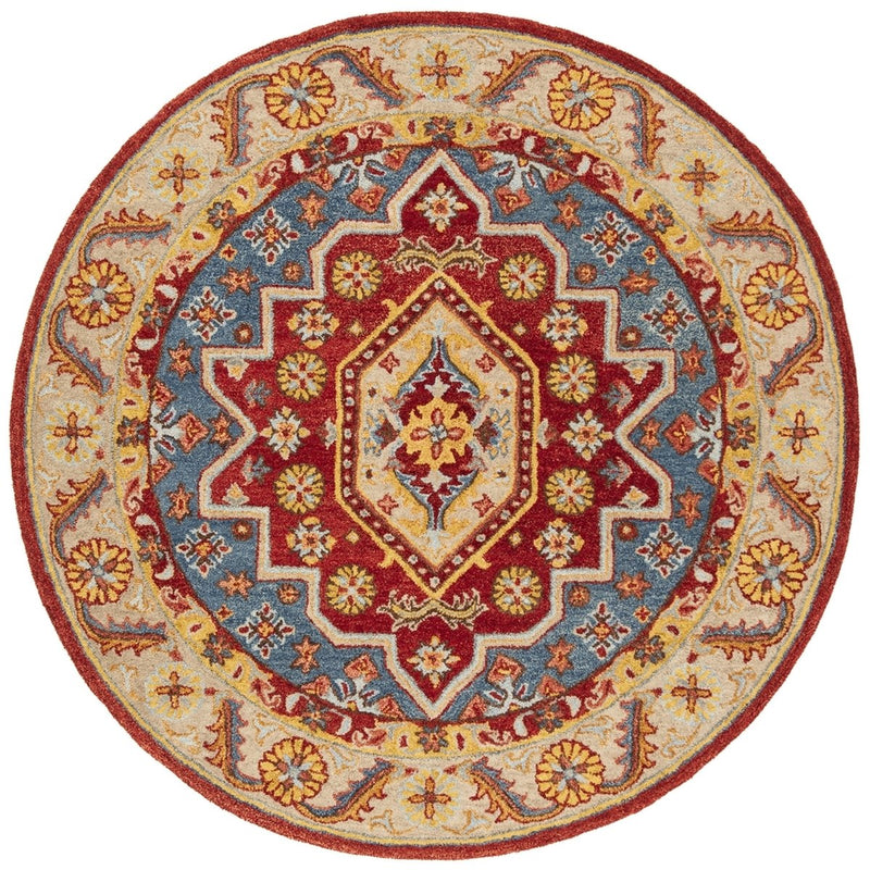 Safavieh Rugs Antiquity AT503Q Red | Blue