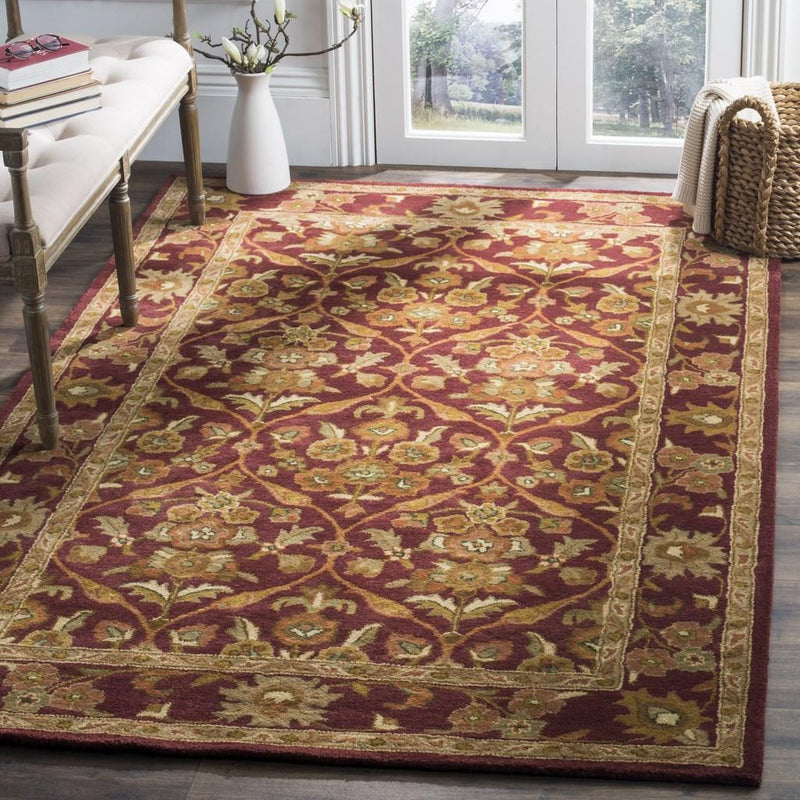 Safavieh Rugs Antiquity AT51A Wine | Gold