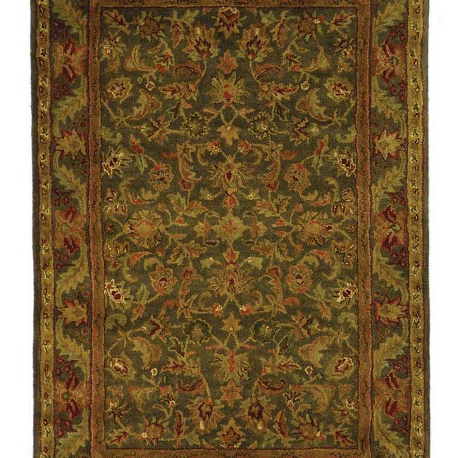 Safavieh Rugs Antiquity AT52K Green | Gold