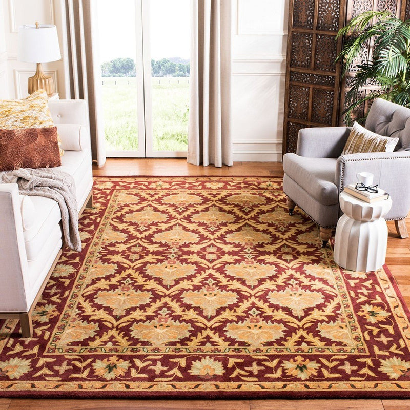 Safavieh Rugs Antiquity AT54A Wine | Gold